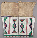 American Indian Art:Beadwork and Quillwork, A PAIR OF SIOUX WOMAN'S BEADED HIDE LEGGINGS. c. 1890 ...