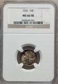 Mercury Dimes: , 1931 10C MS66 Full Bands NGC. NGC Census: (12/0). PCGS Population(64/12). Mintage: 3,150,000. Numismedia Wsl. Price for pr...