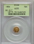 California Fractional Gold: , 1864 50C Liberty Octagonal 50 Cents, BG-917, R.4, AU55 PCGS. PCGSPopulation (16/46). NGC Census: (3/8). (#10775)...