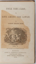 Books:Literature Pre-1900, Harriet Beecher Stowe. Uncle Tom's Cabin; or, Life Among theLowly, Vol. 1. John P. Jewett & Company, 1852. Late...