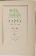 Books:Children's Books, Felix Salten. Bambi. A Life in the Woods. Simon andSchuster, 1928. First American edition. Illustrated by Kurt ...