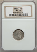 Bust Dimes: , 1829 10C Small 10C XF45 NGC. NGC Census: (8/224). PCGS Population(24/183). Mintage: 770,000. Numismedia Wsl. Price for pro...