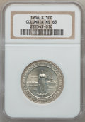 Commemorative Silver: , 1936-S 50C Columbia MS65 NGC. NGC Census: (526/729). PCGSPopulation (694/559). Mintage: 8,007. Numismedia Wsl. Price forp...