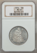 Seated Half Dollars: , 1876 50C MS62 NGC. NGC Census: (40/105). PCGS Population (57/135).Mintage: 8,419,150. Numismedia Wsl. Price for problem fr...