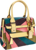 Luxury Accessories:Bags, Valentino Limited Edition Multicolor Shiny Crocodile & GoldLizard Large Tote, Retail ~$23,000. ...