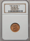 Indian Cents: , 1909 1C MS64 Red NGC. NGC Census: (624/566). PCGS Population (928/771). Mintage: 14,370,645. Numismedia Wsl. Price for prob...