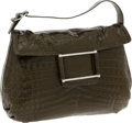Luxury Accessories:Bags, Lamberston Truex Shiny Soft Olive Green Crocodile Hobo Bag,Retail ~$18,000. ...