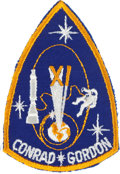 Explorers:Space Exploration, Gemini 11 Flown Embroidered Mission Insignia Patch Directly from the Jim Rathmann Collection. ...