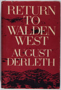 Books:Americana & American History, August Derleth. INSCRIBED. Return to Walden West. TheCandlelight Press, 1970. First edition. Inscribed by the a...