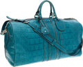Luxury Accessories:Bags, Gucci Turquoise Matte Crocodile Overnight Bag, Retail~$22,000. ...