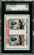 Baseball Cards:Singles (1970-Now), 1974 O-Pee-Chee Hank Aaron Special #8 SGC 96 Mint 9 - The FinestSGC Example!...