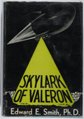 Books:Science Fiction & Fantasy, Edward E. Smith. INSCRIBED. Skylark of Valeron. Fantasy Press, 1949. First edition. Inscribed by the author on t...