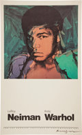 Boxing Collectibles:Memorabilia, 1978 Muhammad Ali Lithograph Signed by Andy Warhol....