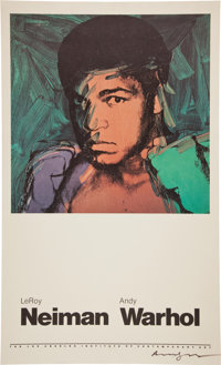 1978 Muhammad Ali Lithograph Signed by Andy Warhol