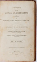 Books:Americana & American History, A. W. Young. Introduction to the Science of Government, andCompend of Constitutional and Statutory Law. Spencer...