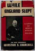 Books:Biography & Memoir, Winston S. Churchill. While England Slept. Putnam, 1938.First edition, first printing. Minor rubbing and bumpin...