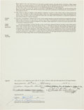 Baseball Collectibles:Others, 1972 Jim Catfish Hunter Signed Oakland Athletics Player's Contract....