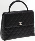 Luxury Accessories:Bags, Chanel Black Caviar Leather Top Handle Bag with Silver Hardware.....