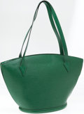 Luxury Accessories:Bags, Louis Vuitton Green Epi Leather St Jacques Tote Bag. ...