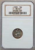 Seated Dimes: , 1888 10C MS62 NGC. NGC Census: (35/202). PCGS Population (38/200).Mintage: 5,495,655. Numismedia Wsl. Price for problem fr...