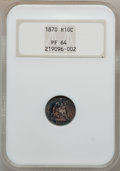 Proof Seated Half Dimes: , 1870 H10C PR64 NGC. NGC Census: (46/57). PCGS Population (38/32).Mintage: 1,000. Numismedia Wsl. Price for problem free NG...