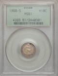 Seated Half Dimes: , 1868-S H10C MS61 PCGS. PCGS Population (6/59). NGC Census: (5/93). Mintage: 280,000. Numismedia Wsl. Price for problem free...