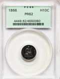 Proof Seated Half Dimes: , 1866 H10C PR62 PCGS. PCGS Population (28/137). NGC Census:(11/122). Mintage: 725. Numismedia Wsl. Price for problem free N...