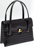 Luxury Accessories:Bags, Fine French Shiny Alligator Vintage Bag. ...