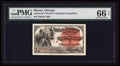 Miscellaneous:Other, World's Columbian Exposition Ticket 1893 PMG Gem Uncirculated 66EPQ.. ...
