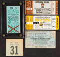 Baseball Collectibles:Tickets, 1920-54 Cleveland Indians World Series Tickets and More Lot of5....