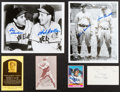 Baseball Collectibles:Others, Cleveland Indians Legends Signed Memorabilia Lot of 6....