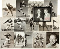 Football Collectibles:Photos, Circa 1950's Football Greats Signed Original Photographs, Made out to Elroy Hirsch Lot of 16 - With Van Brocklin, Fears, etc....