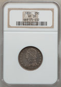 Bust Quarters: , 1831 25C Small Letters VF35 NGC. NGC Census: (7/450). PCGSPopulation (24/398). Mintage: 398,000. Numismedia Wsl. Price for...
