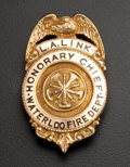 Estate Jewelry:Other , Honorary Los Angeles Gold Fire Department Shield Badge. ...