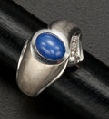 Estate Jewelry:Rings, Gent's Blue Star Sapphire & Gold Ring. ...