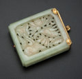 Estate Jewelry:Other , Carved Green Jade Compact. ...