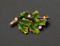 "Estate Jewelry:Brooches - Pins, ""Hammerman Design House"" Oak Leaf Gold Brooch. ..."