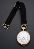 Timepieces:Pocket (post 1900), Patek Philippe 18k Gold Pocket Watch, circa 1905. ...