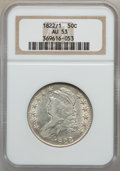 Bust Half Dollars: , 1822/1 50C AU53 NGC. NGC Census: (7/50). PCGS Population (6/47).Numismedia Wsl. Price for problem free NGC/PCGS coin in A...