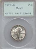 Standing Liberty Quarters: , 1926-D 25C MS64 PCGS. PCGS Population (1398/198). NGC Census:(938/258). Mintage: 1,716,000. Numismedia Wsl. Price for prob...