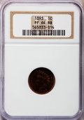 Proof Indian Cents: , 1893 1C PR64 Red and Brown NGC. NGC Census: (122/92). PCGSPopulation (114/28). Mintage: 2,195. Numismedia Wsl. Price for p...