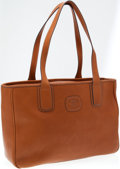 Luxury Accessories:Bags, Ghurka Chestnut Leather OC Stadium Tote Bag. ...