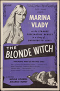 """Movie Posters:Drama, The Blonde Witch (Ellis, 1956). One Sheet (27"""" X 41""""). Drama. Alternate Title: The Sorceress.. ..."""