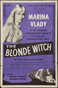"The Blonde Witch (Ellis, 1956). One Sheet (27"" X 41""). Drama. Alternate Title: The Sorceress"