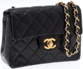 Luxury Accessories:Bags, Chanel Black Lambskin Leather Mini Single Flap Bag with GoldHardware. ...