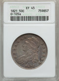 Bust Half Dollars: , 1821 50C XF45 ANACS. O-105a. NGC Census: (58/365). PCGS Population(75/372). Mintage: 1,305,797. Numismedia Wsl. Price for...