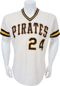 Baseball Collectibles:Uniforms, 1983 Mike Easler Game Worn Pittsburgh Pirates Jersey. ...