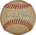 Autographs:Baseballs, 1970's Thurman Munson Single Signed Baseball, PSA/DNA EX+ 5.5....