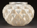 Art Glass:Lalique, R. LALIQUE CLEAR AND FROSTED GLASS LANGUEDOC VASE . Circa1920. Stenciled: R. LALIQUE, FRANCE . 8-5/8 inches hig...