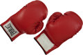 """Boxing Collectibles:Autographs, 1990's Mike Tyson Worn and Signed """"Showtime"""" Photo Shoot Gloves...."""